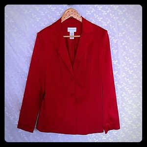 Apple Red Jaclyn Smith 2 Button Blazer - Size 8